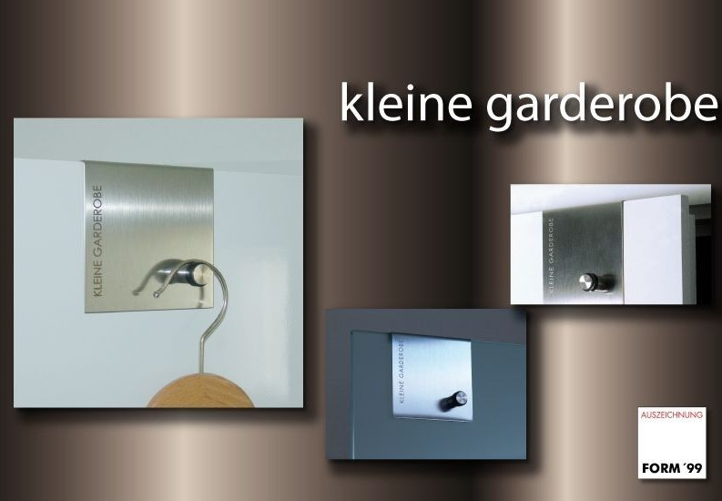 artikel design kleine garderobe zum einh ngen in t ren. Black Bedroom Furniture Sets. Home Design Ideas