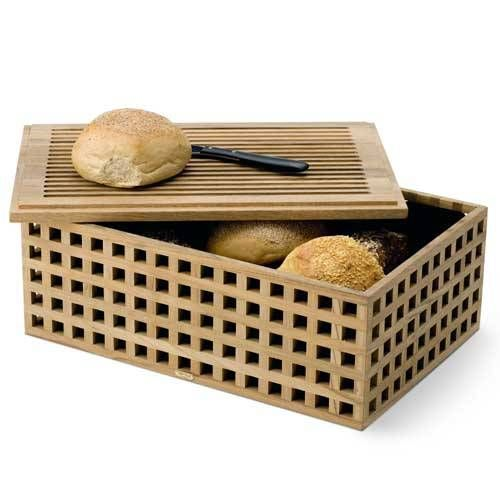 skagerak denmark brotkasten pantry aus teakholz mit schneidebrett. Black Bedroom Furniture Sets. Home Design Ideas
